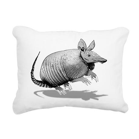 Cute Armadillo Rectangular Canvas Pillow