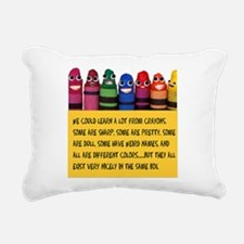Peaceful Crayons Rectangular Canvas Pillow