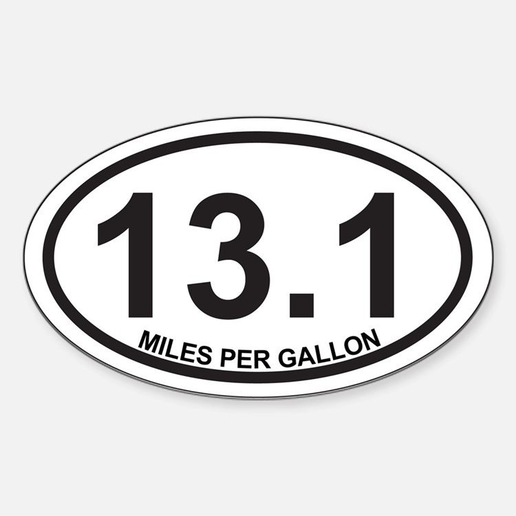 13.1 Miles Per Gallon Decal
