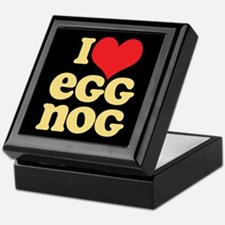 Retro I Love Egg Nog Keepsake Box