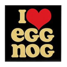 Retro I Love Egg Nog Tile Coaster