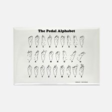The Pedal Alphabet Rectangle Magnet