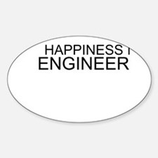 Happiness Is Engineering Sticker (Oval)