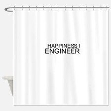 Happiness Is Engineering Shower Curtain