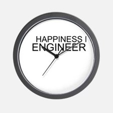 Happiness Is Engineering Wall Clock