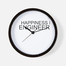 Happiness Is Engineering Wall Clock