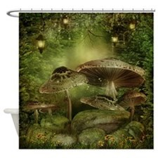 Enchanted Mushrooms Shower Curtain