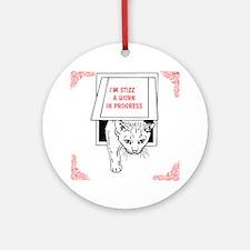 OYOOS Cat design Ornament (Round)