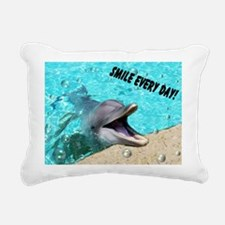 Smiling dolphin Rectangular Canvas Pillow