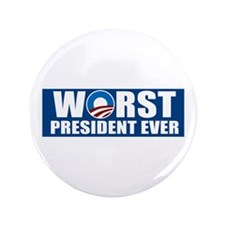 """Worst President Ever 3.5"""" Button (100 pack)"""