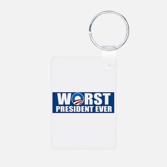 Worst President Ever Keychains