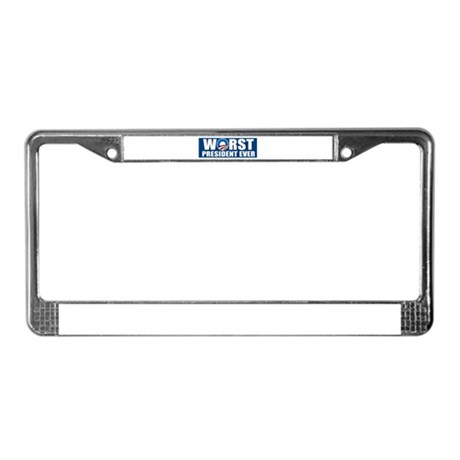 Worst President Ever License Plate Frame