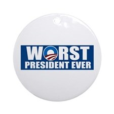 Worst President Ever Ornament (Round)