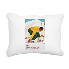 Ski Sun Valley Idaho Rectangular Canvas Pillow