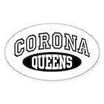Corona Queens Sticker (Oval)