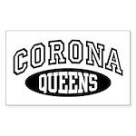 Corona Queens Sticker (Rectangle)
