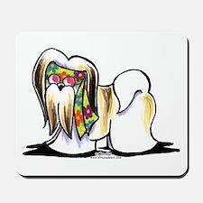 Lhasa Apso Hippie Mousepad