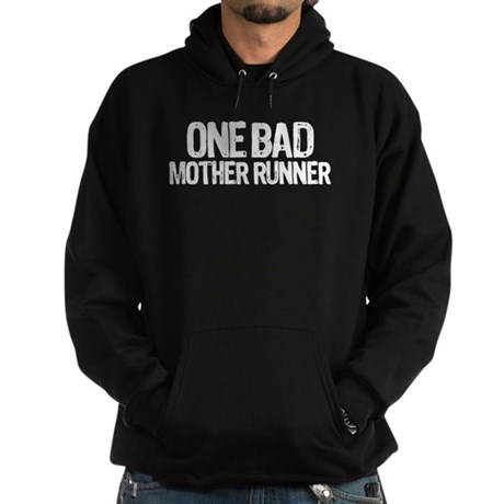one bad mother runner Hoodie (dark)