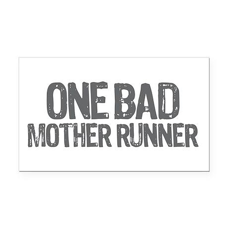 one bad mother runner Rectangle Car Magnet