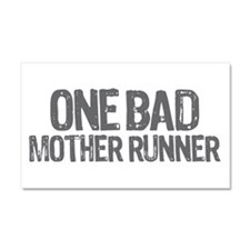one bad mother runner Car Magnet 20 x 12