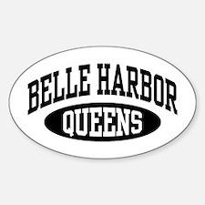 Belle Harbor Queens Sticker (Oval)