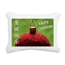 Chinese Christmas Rectangular Canvas Pillow