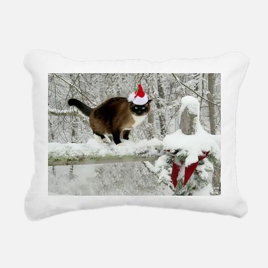 Snowshoe cat Rectangular Canvas Pillow