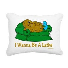 Potato Pancake Humor Rectangular Canvas Pillow