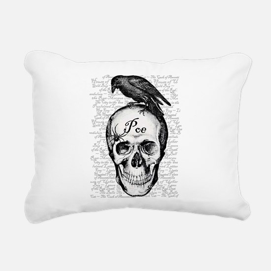 Raven Poe Rectangular Canvas Pillow