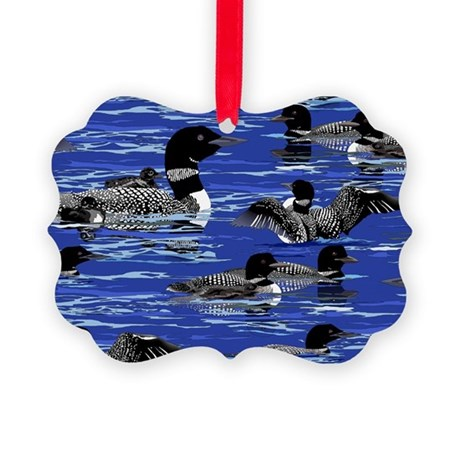 Lots of Loons! Picture Ornament