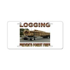 LOGGING Aluminum License Plate