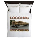 Forest fire Duvet Covers