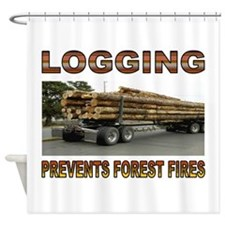 LOGGING Shower Curtain