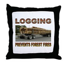 LOGGING Throw Pillow
