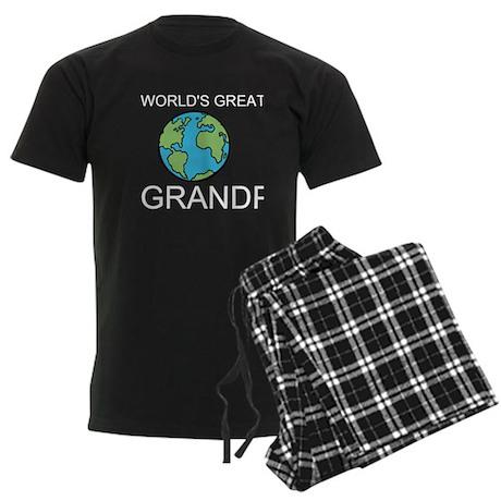 Worlds Greatest Grandpa Men's Dark Pajamas
