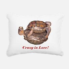 Crazy in Love Box Turtles Rectangular Canvas Pillo