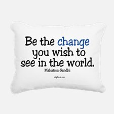 Be The Change Rectangular Canvas Pillow