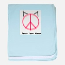 Peace Cat baby blanket