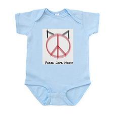 Peace Cat Infant Bodysuit