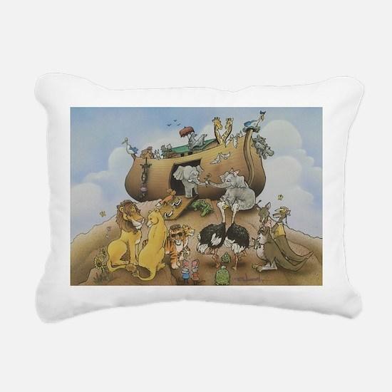 Noah's Ark Rectangular Canvas Pillow