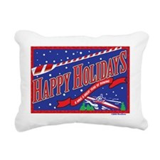 Holiday Rowing Rectangular Canvas Pillow