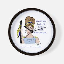 Spartan Ladies Take No Prisoners! Wall Clock
