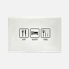 Eat Sleep BBQ Rectangle Magnet