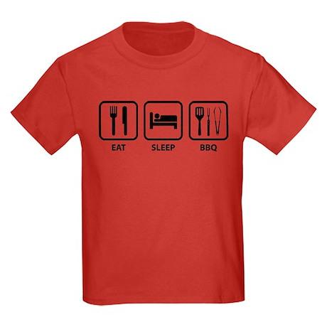 Eat Sleep BBQ Kids Dark T-Shirt