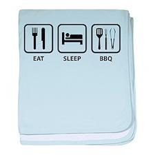 Eat Sleep BBQ baby blanket