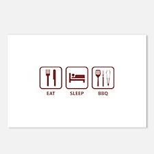 Eat Sleep BBQ Postcards (Package of 8)