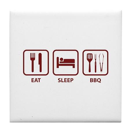 Eat Sleep BBQ Tile Coaster