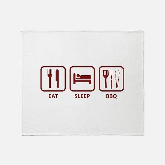 Eat Sleep BBQ Throw Blanket