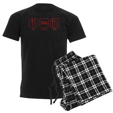 Eat Sleep BBQ Men's Dark Pajamas
