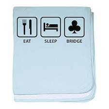 Eat Sleep Bridge baby blanket